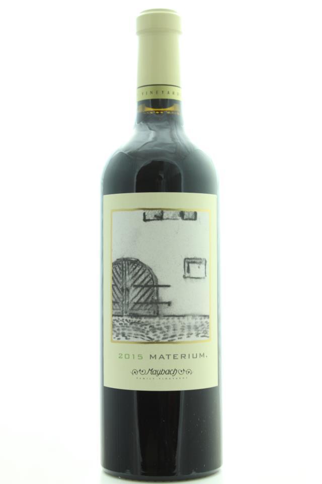 Maybach Cabernet Sauvignon Materium Weitz Vineyard 2015