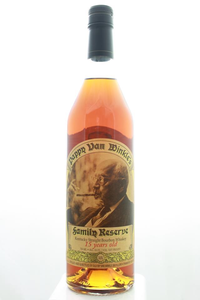 Old Rip Van Winkle Pappy Van Winkle's Kentucky Straight Bourbon Whiskey Family Reserve 15-Year-Old NV