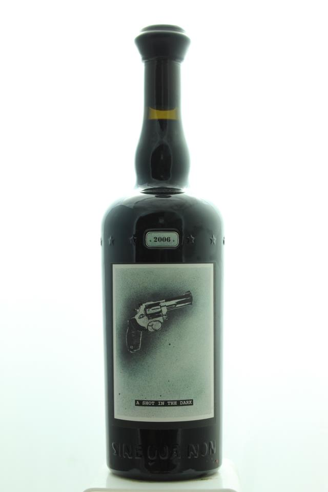Sine Qua Non Syrah Estate Eleven Confessions Vineyard A Shot in the Dark 2006