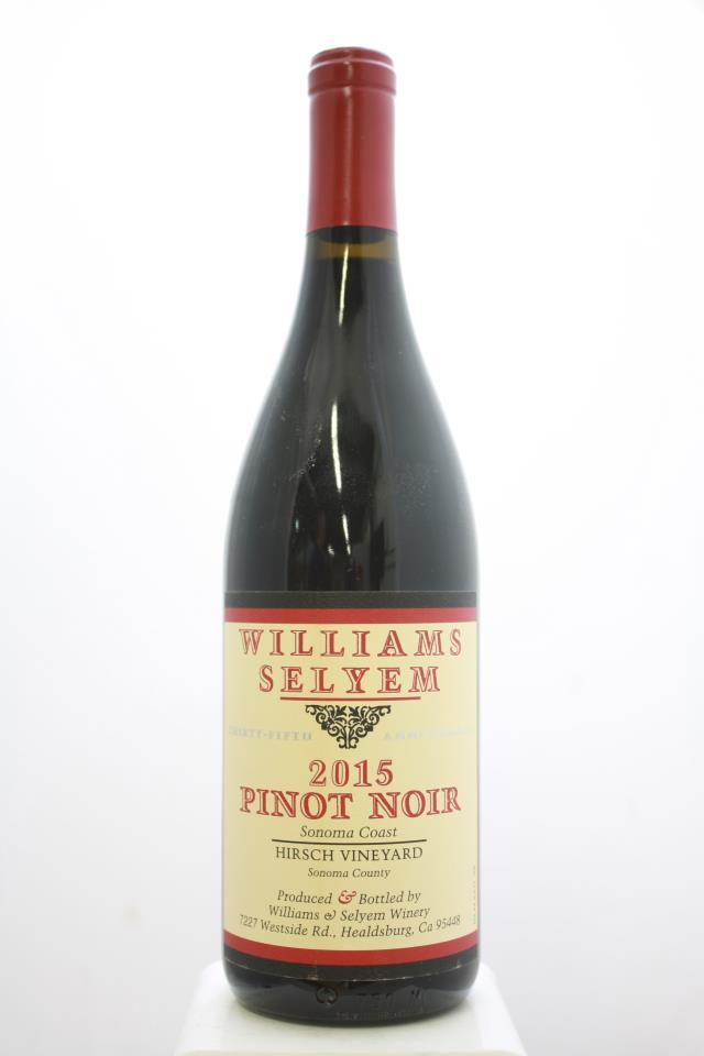 Williams Selyem Pinot Noir Hirsch Vineyard 2015