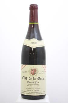 Gérard Raphet Clos de la Roche Cuvée Unique 2003