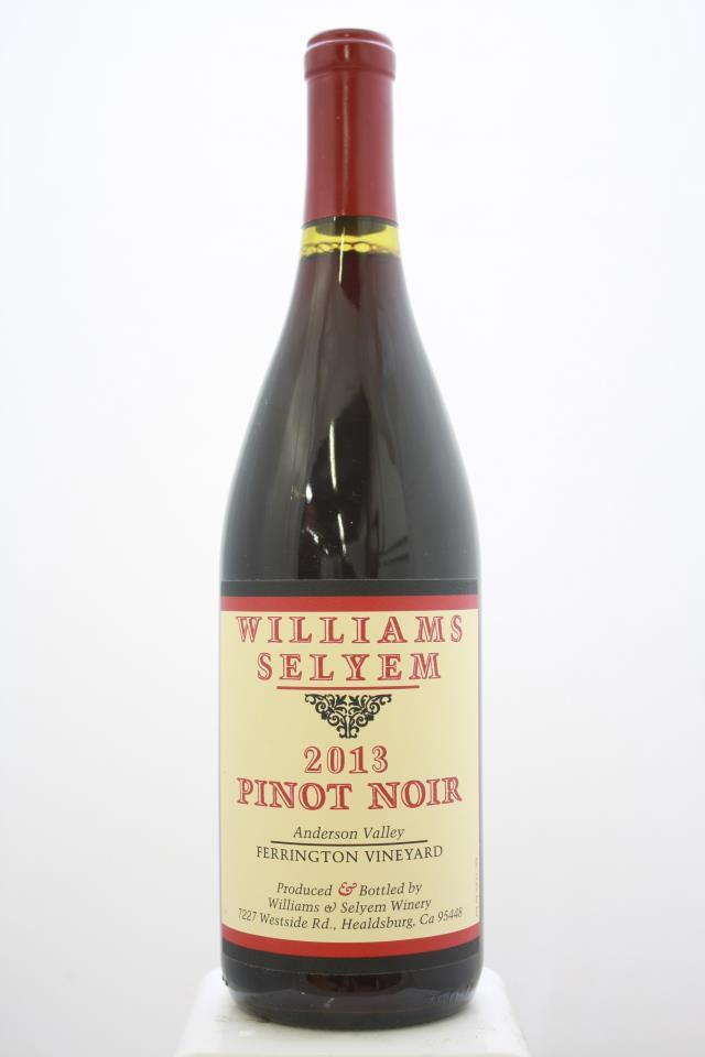 Williams Selyem Pinot Noir Ferrington Vineyard 2013
