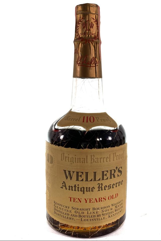 Stitzel-Weller Kentucky Straight Bourbon Whiskey Weller's Antique Reserve Ten-Year-Old Original Barrel Proof NV