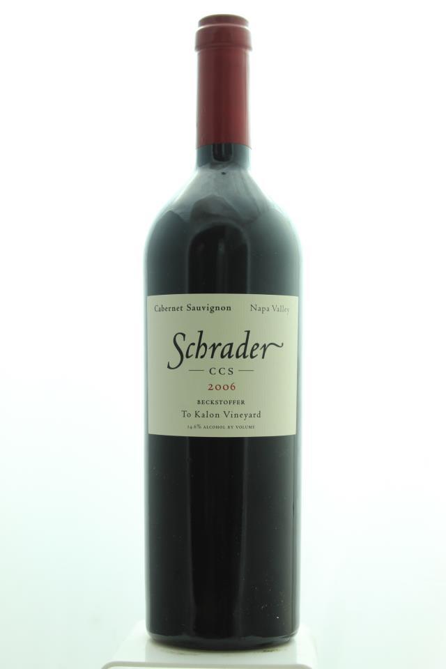 Schrader Cabernet Sauvignon Beckstoffer To Kalon Vineyard CCS 2006