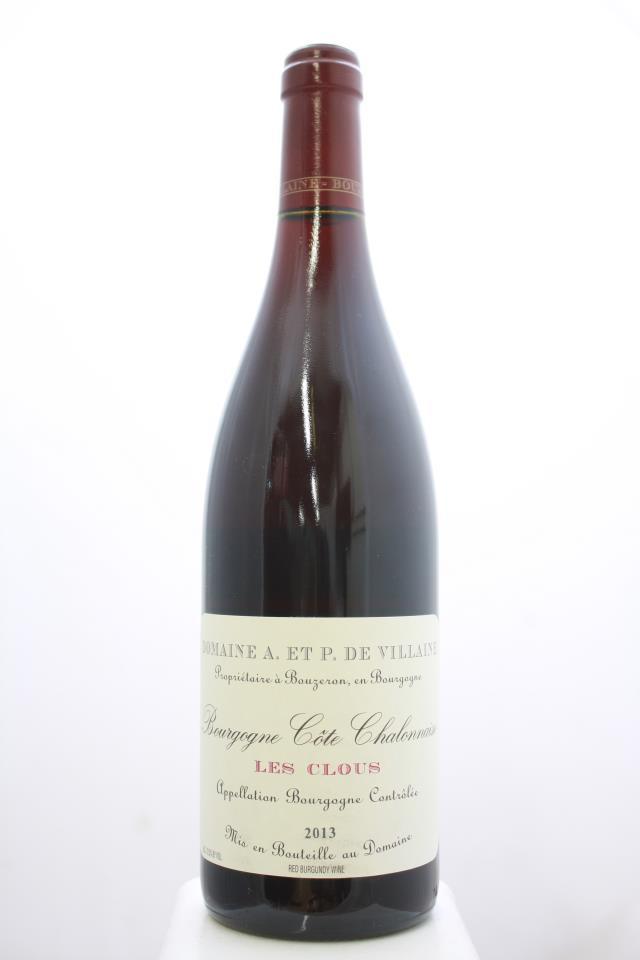 Domaine de Villaine Bourgogne Côte Chalonnaise Les Clous Rouge 2013