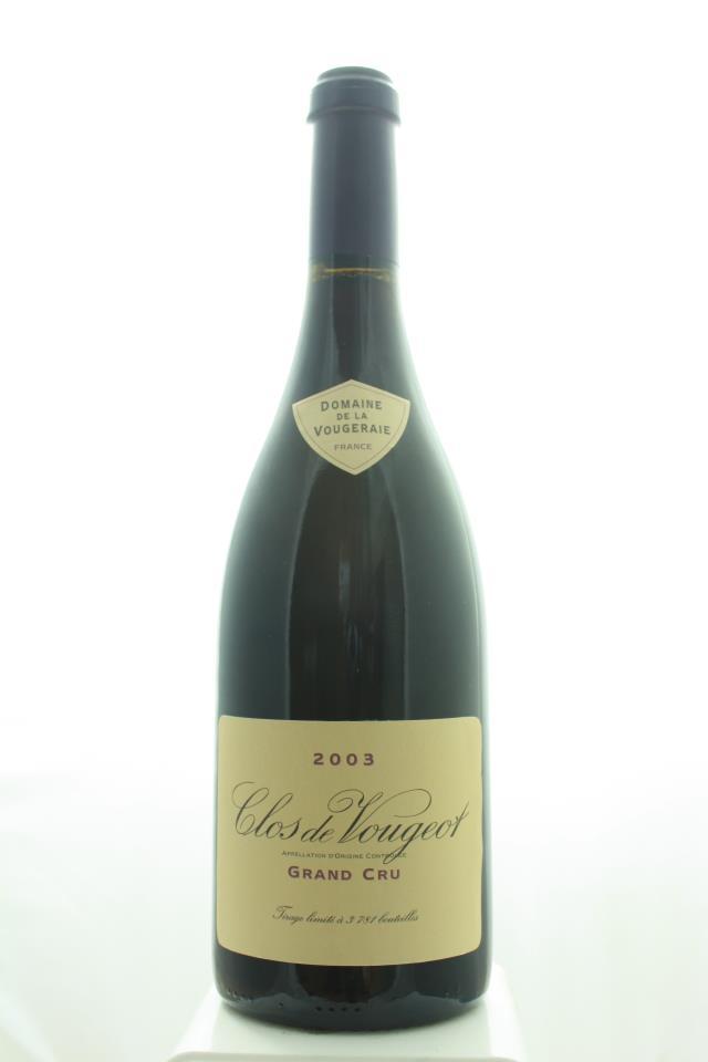 Domaine de la Vougeraie Clos de Vougeot 2003
