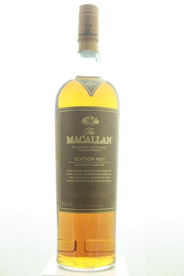 The Macallan Highland Single Malt Scotch Whisky Edition #1 NV