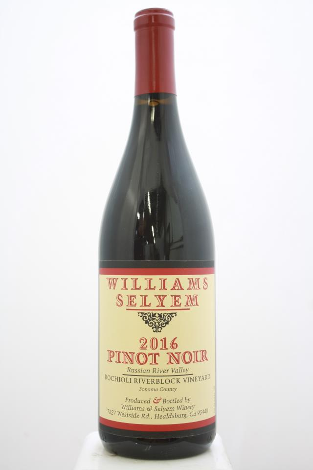 Williams Selyem Pinot Noir Rochioli Riverblock Vineyard 2016