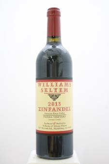Williams Selyem Zinfandel Papera Vineyard 2013