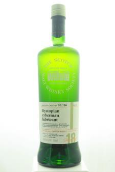 The Scotch Malt Whisky Society Single Malt Scotch Whisky Single Cask Dystopian Cyberman Lubricant 18-Years-Old 2001