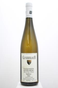 Gunderloch Nackenheim Rothenberg Riesling Spätlese #11 2002