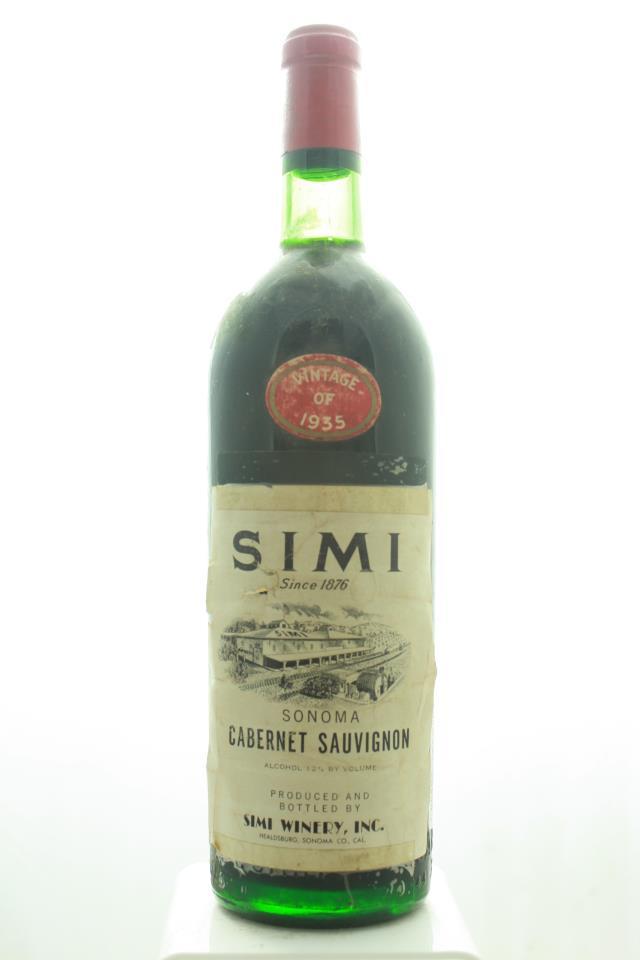 Simi Cabernet Sauvignon Sonoma 1935
