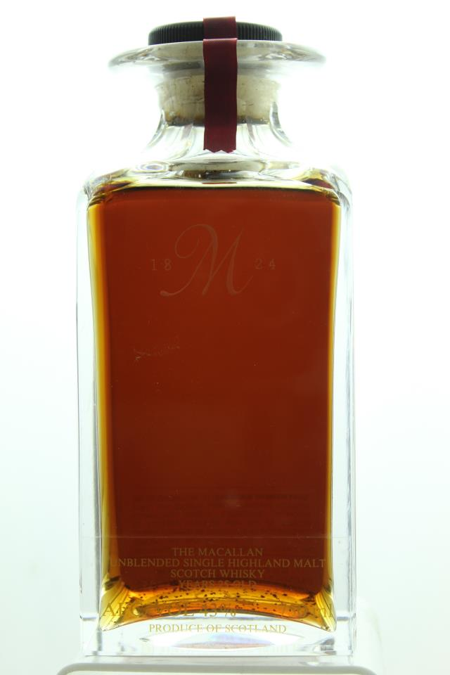 The Macallan Unblended Single Highland Malt Scotch Whisky 25-Years-Old 1964