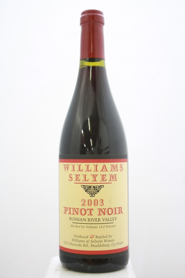 Williams Selyem Pinot Noir Russian River Valley 2003