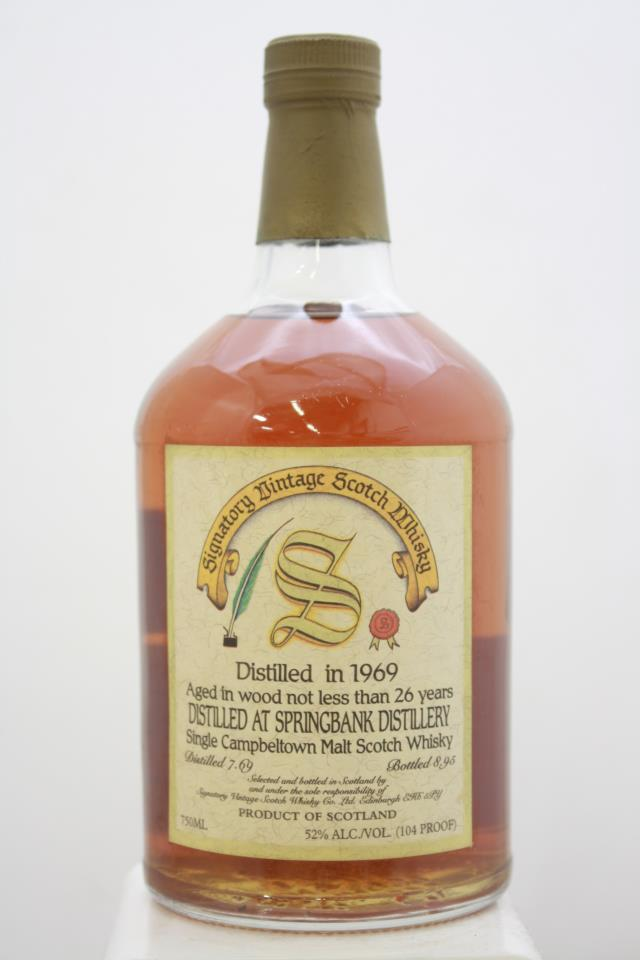 Springbank Signatory Vintage Single Campbeltown Malt Scotch Whisky 26-Year 1969