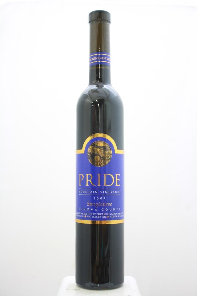 Pride Mountain Vineyards Sangiovese 2007