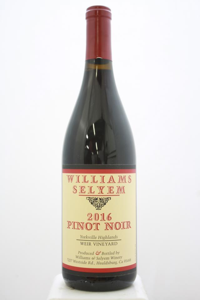 Williams Selyem Pinot Noir Weir Vineyard 2016