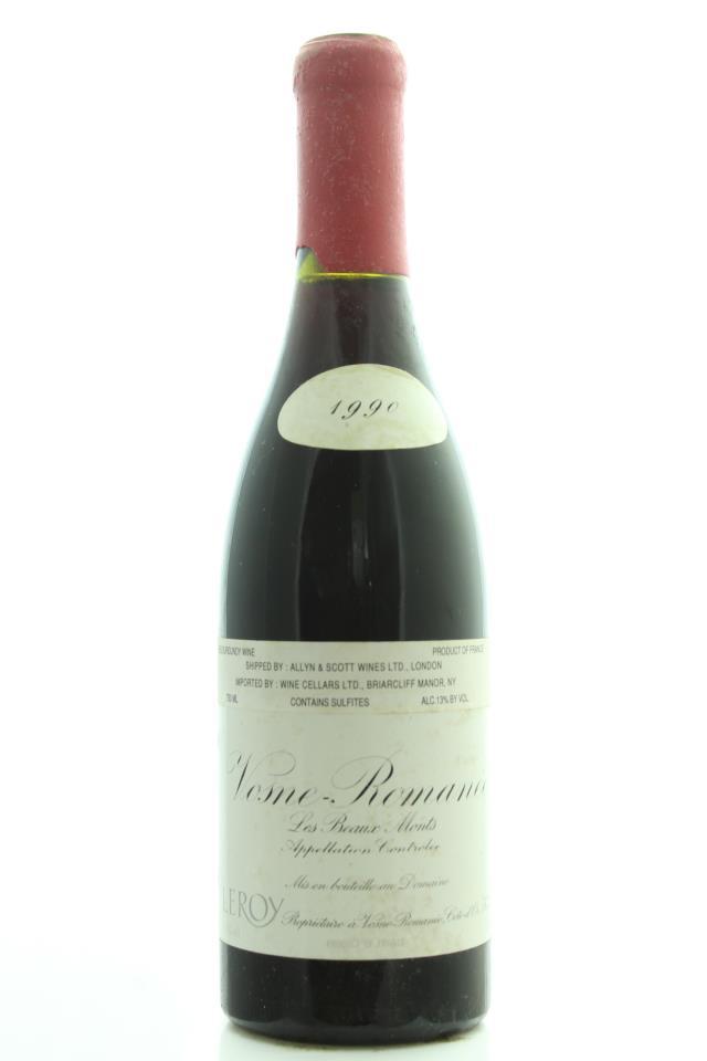Domaine Leroy Vosne-Romanée Les Beaux Monts 1990