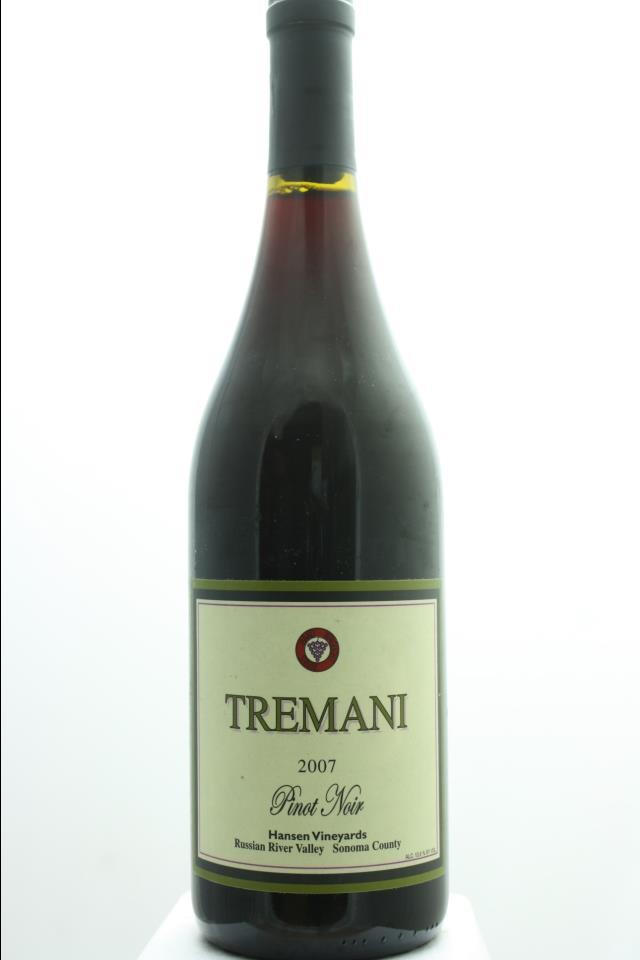 Tremani Pinot Noir Hansen Vineyards 2007
