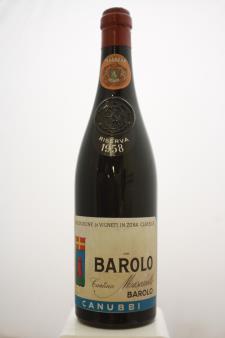 Cantina (Bartolo) Mascarello Barolo Riserva Cannubi 1958