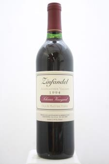 Scherrer Zinfandel Sherrer Vineyard Old & Mature Vines 1994