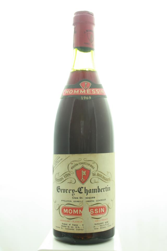 Mommessin Gevrey-Chambertin Clos Saint-Jacques 1969