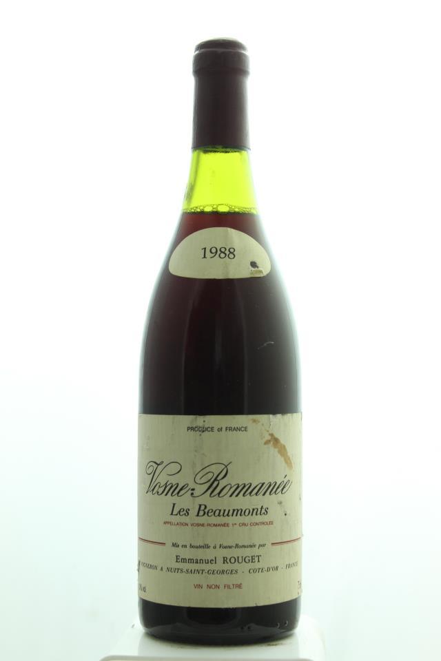 Emmanuel Rouget Vosne-Romanée Les Beaumonts 1988