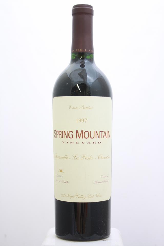 Spring Mountain Cabernet Sauvignon Miravelle La Perla Chevalier 1997