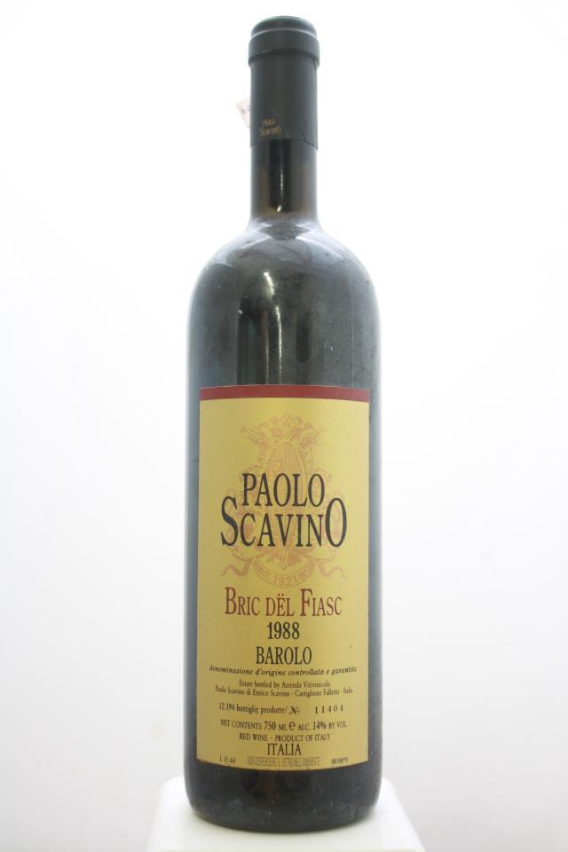 Paolo Scavino Barolo Bric dël Fiasc 1988