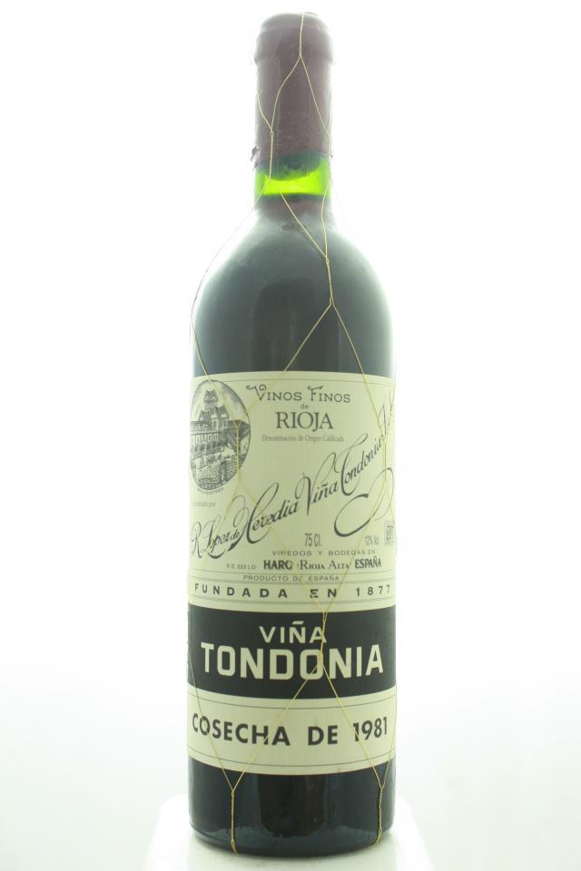 R. López de Heredia Rioja Tinto Gran Reserva Viña Tondonia 1981