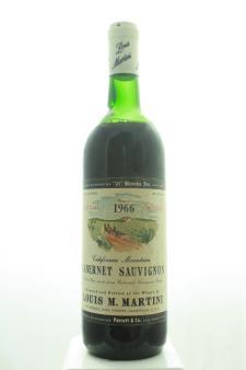 Louis M. Martini Cabernet Sauvignon California Mountain Special Selection 1966