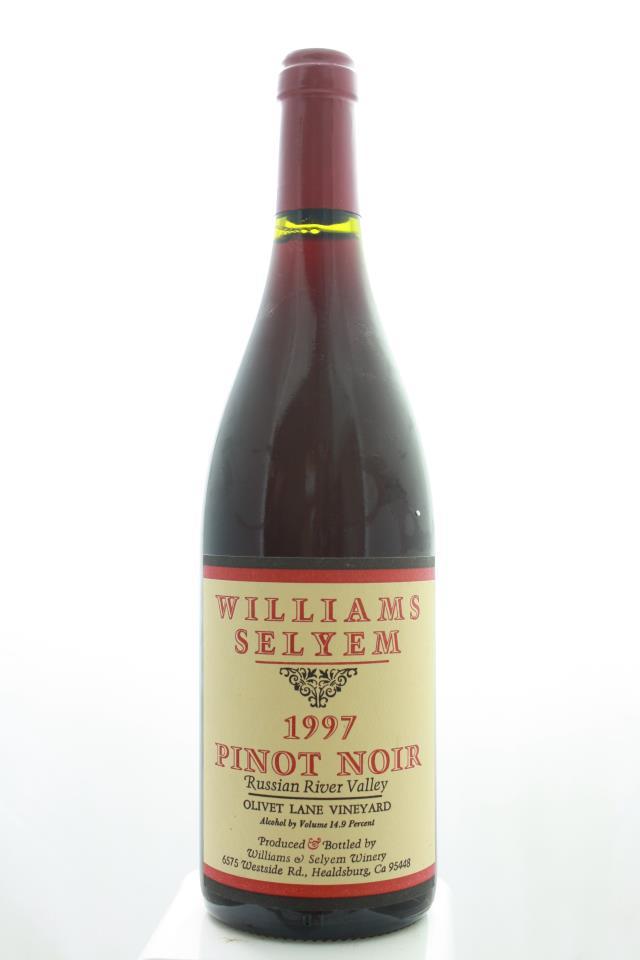Williams Selyem Pinot Noir Olivet Lane Vineyard 1997