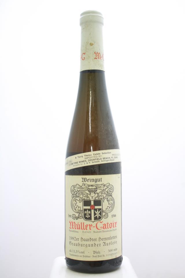 Müller-Catoir Haardter Herrenletten Grauburgunder Auslese #14 1992