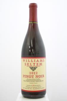 Williams Selyem Pinot Noir Westside Road Neighbors 2012
