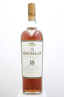 The Macallan Sherry Oak Cask Single Malt Scotch Whisky 18 Year Old 1993