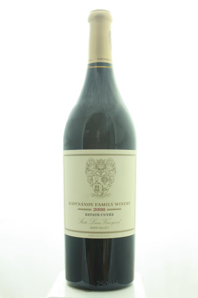 Kapcsandy Family Winery Proprietary Red Estate Cuvée State Lane Vineyard 2008