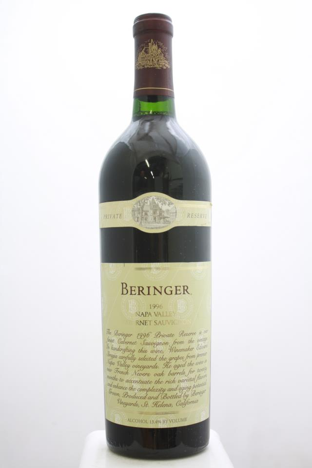 Beringer Vineyards Cabernet Sauvignon Private Reserve 1996