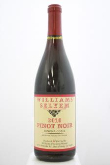 Williams Selyem Pinot Noir Sonoma Coast 2010