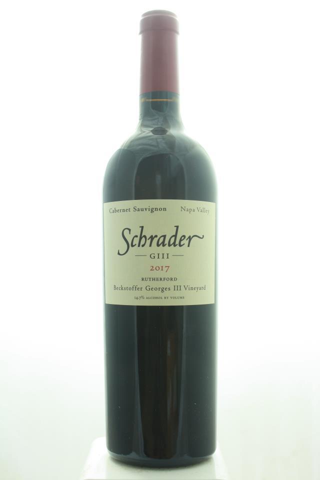 Schrader Cabernet Sauvignon Beckstoffer Georges III Vineyard GIII 2017