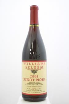 Williams Selyem Pinot Noir Ferrington Vineyard 2006