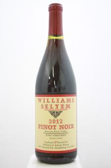Williams Selyem Pinot Noir Foss Vineyard 2012