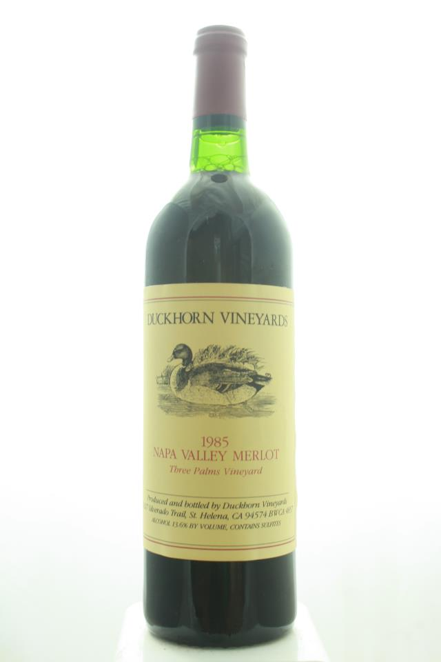 Duckhorn Merlot Three Palms Vineyard 1985