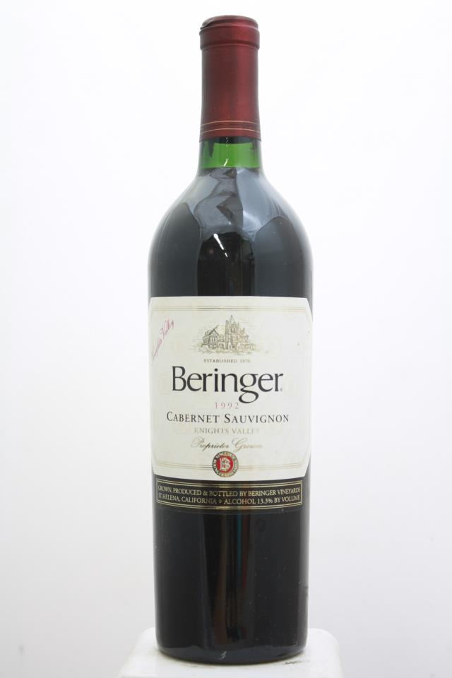 Beringer Vineyards Cabernet Sauvignon Knights Valley 1992
