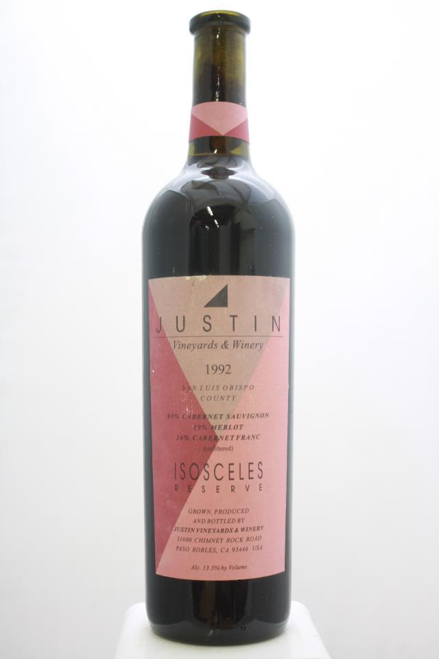Justin Proprietary Red Isosceles Reserve 1992
