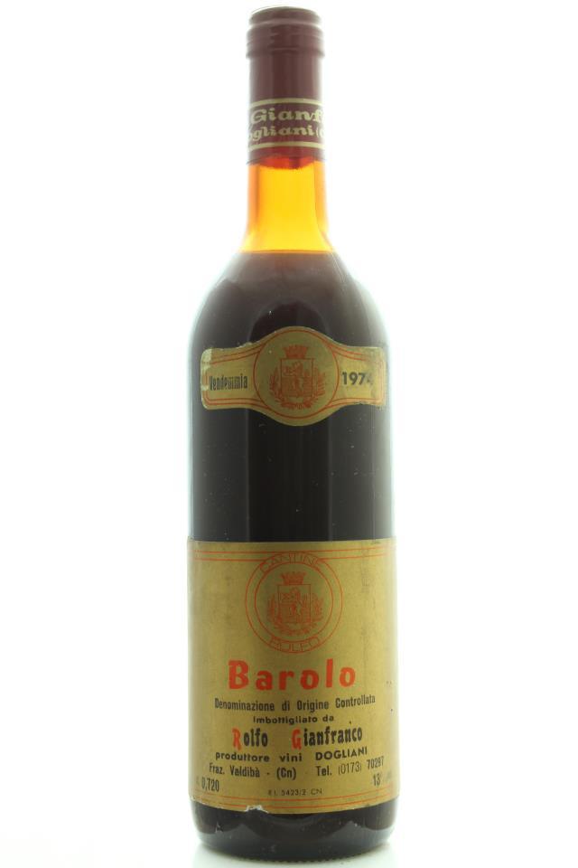 Gianfranco Rolfo Barolo 1974
