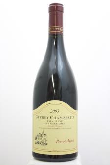 Christophe Perrot-Minot Gevrey Chambertin Les Perrières Vieilles Vignes 2003