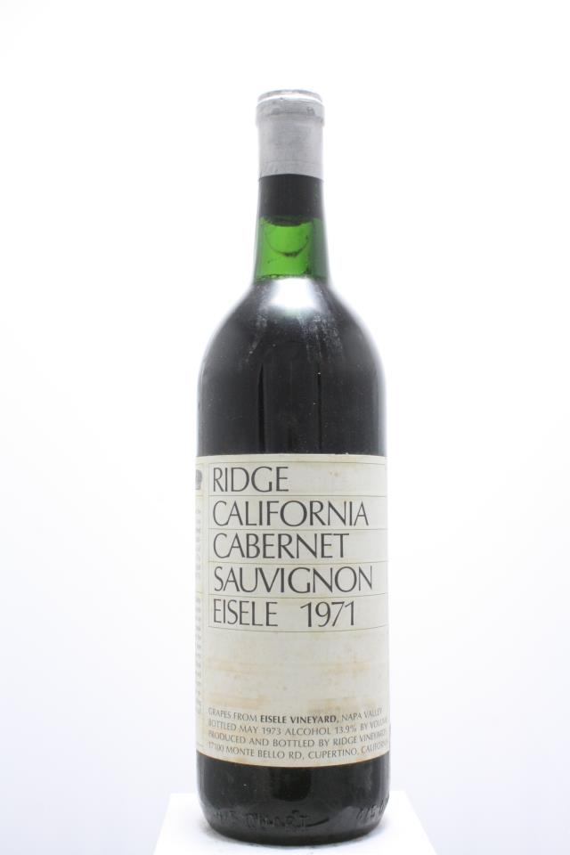 Ridge Vineyards Cabernet Sauvignon Eisele Vineyard 1971